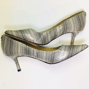 Ivanka Trump striped heel